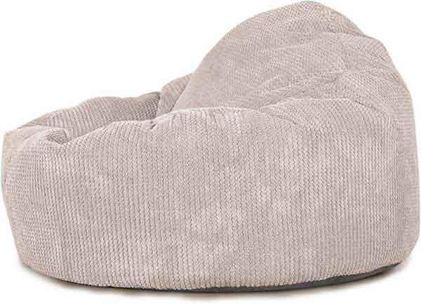 Pouf lounge en tissu peluche
