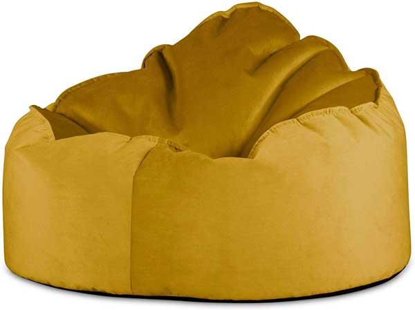 Pouf fauteuil de salon en velours