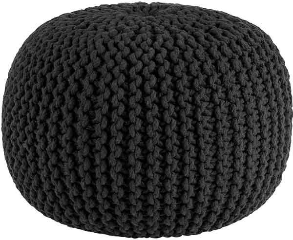 Pouf en tricot coton